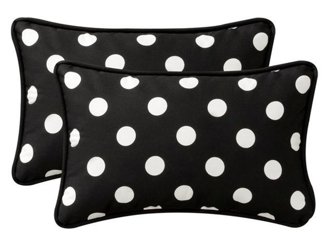 Pack of 2 Outdoor Patio Rectangular Throw Pillows 24.5