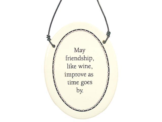 May Friendship Like Wine Improve As Time Goes By Christmas Ornament 6