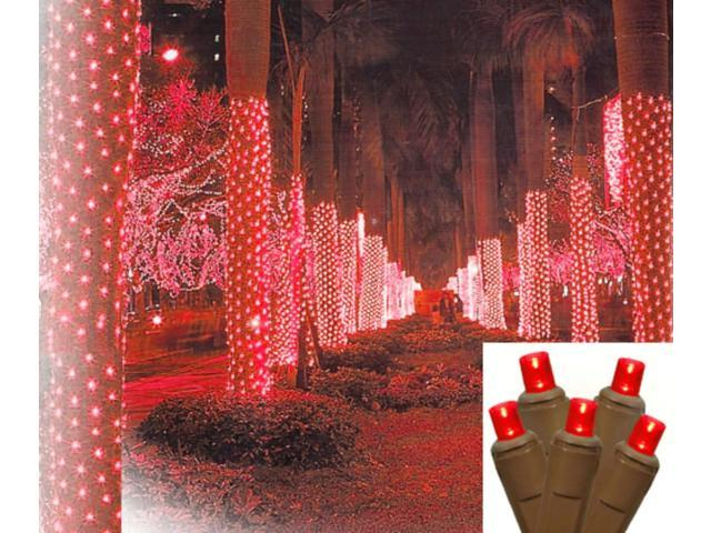 2' X 8' Red LED Net Style Tree Trunk Wrap Christmas Lights