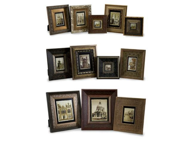 Set of 12 Art Deco Assorted-Size Wooden Traditional Photo Picture Frames