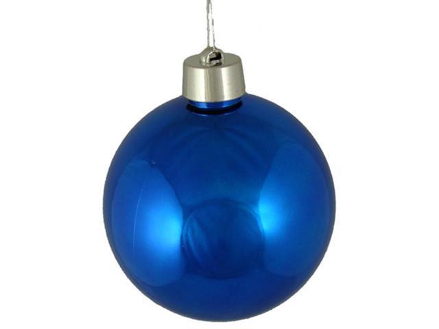Huge Shiny Royal Blue Shatterproof Christmas Ball Ornament 12