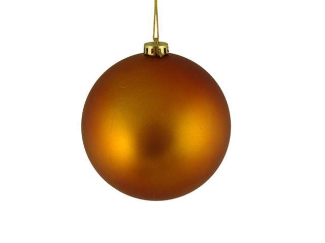 Matte Burnt Orange Shatterproof Christmas Ball Ornament 6