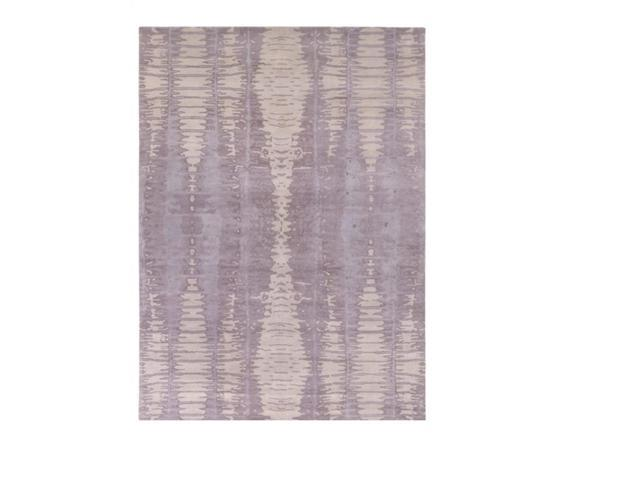 3.5' x 5.5' Serene Dimensions Amethyst, Gray and Picturesque Mauve Wool Area Throw Rug