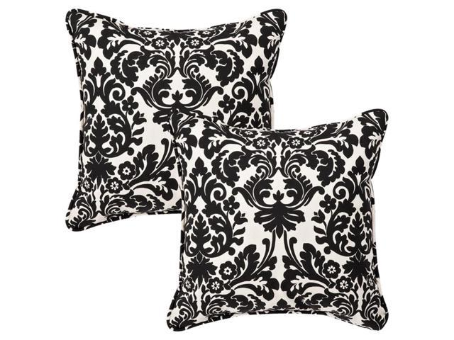 Pack of 2 Outdoor Patio Furniture SquareThrow Pillows 18.5