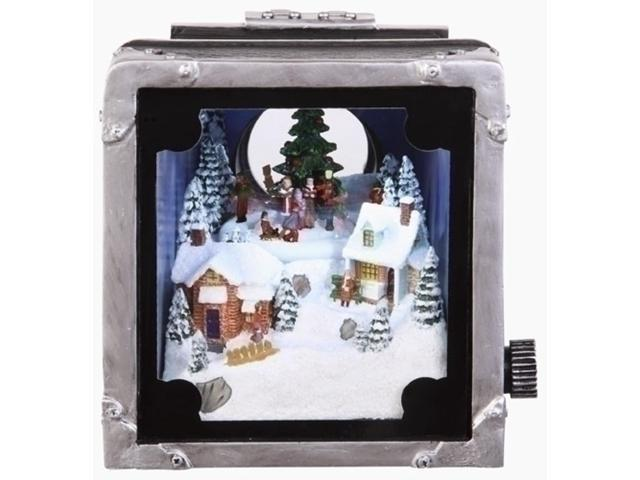 Retro Animated and Lighted Decorative Camera with Christmas Carolers