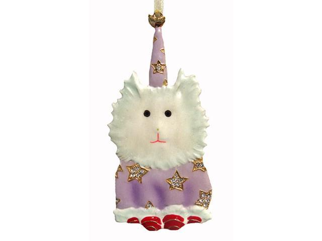 Department 56 Jeweled Fluffy White Dog Christmas Ornament #39382
