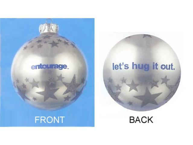 Entourage HBO Silver Glass Ball Christmas Ornament 4
