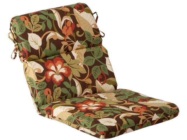 Outdoor Patio Furniture High Back Chair Cushion - Floral Cafe