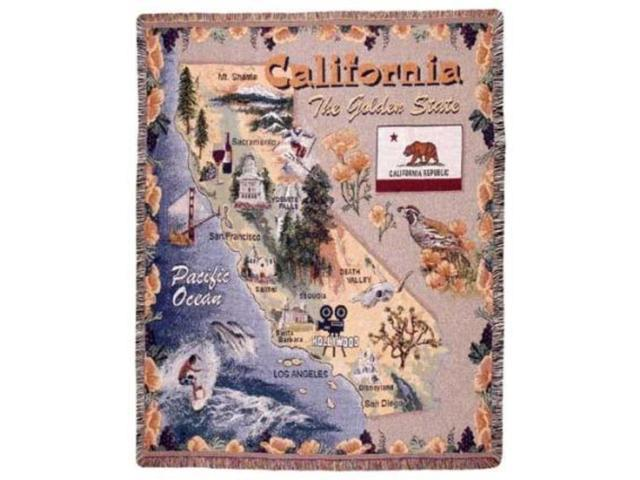 State of California Tapestry Throw Blanket 50