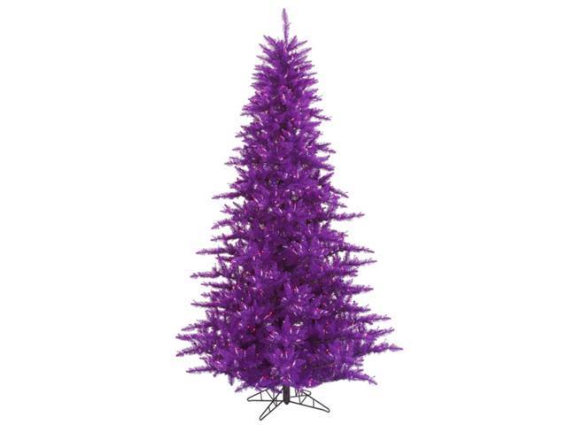 5.5' Pre-Lit Passion Purple Fir Artificial Christmas Tree - Purple Lights