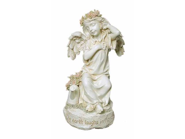 Joseph's Studio Darling Angel With Watering Can and Verse Outdoor Garden Statue