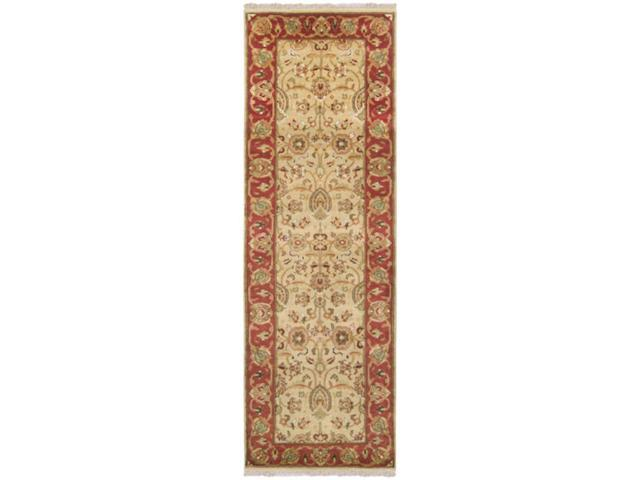 3.5' x 5.5' Vapi Parchment and Peanut Butter Rectangular Wool Area Throw Rug