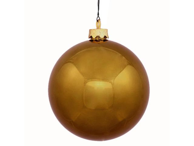 Shiny Olive Green Commercial Shatterproof Christmas Ball Ornament 8