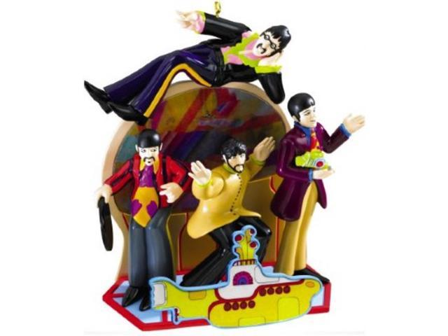 Carlton Cards Heirloom The Beatles Hologram Yellow Submarine Christmas Ornament