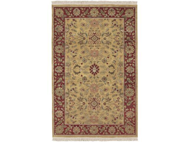 3.75' x 5.75' Eastern Jewels Auburn and Cumin Wool Area Throw Rug