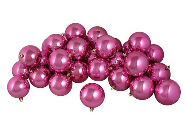 32ct Shiny Pretty in Pink Shatterproof Christmas Ball Ornaments 3.25