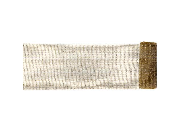 Extra Wide Mesh Gold and Silver Sparkle Tinsel Christmas Ribbon 6