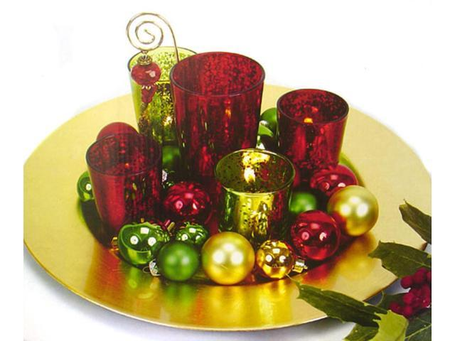 9-Piece Red, Green & Gold Christmas Votive Candle