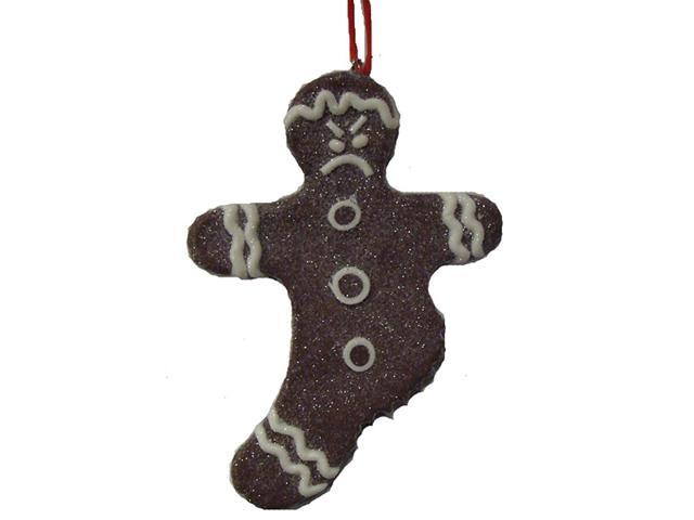 Sweet Memories Sugared Gingerbread Man Cookie w/ No Left Leg Christmas Ornament