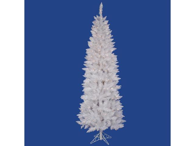5' Pre-Lit White Sparkle Spruce Pencil Artificial Christmas Tree - Clear Lights