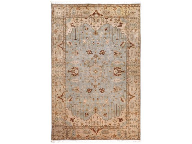 9' x 13' Beraber Taupe Beige, Fawn and Ecru Rectangular Wool Area Throw Rug