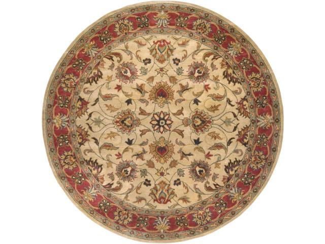 9.75' Augustus Russet and Burnt Sienna Wool Round Area Throw Rug