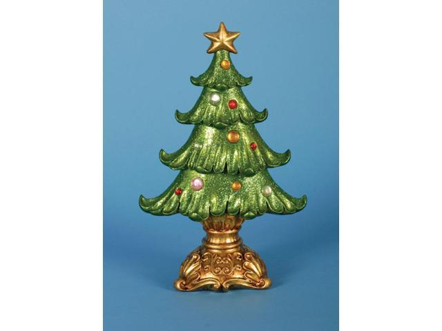 Pack of 2 Ornate Glittered Table Top Christmas Tree Decorations 12