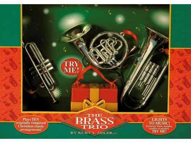 Set of 3 Lighted French Horn, Tuba and Trumpet Musical Christmas Ornaments 6