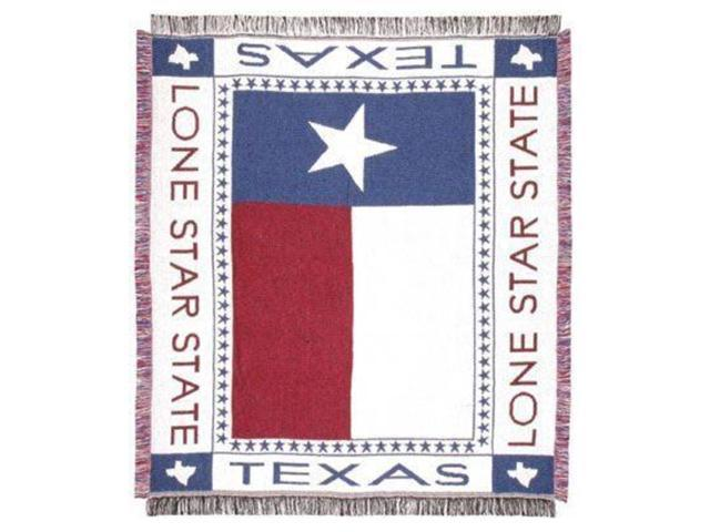 Texas Lone Star Flag Afghan Throw Blanket 48