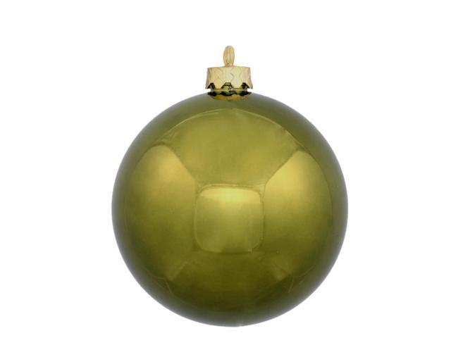 60ct Shiny Olive Green Shatterproof Christmas Ball Ornaments 2.5