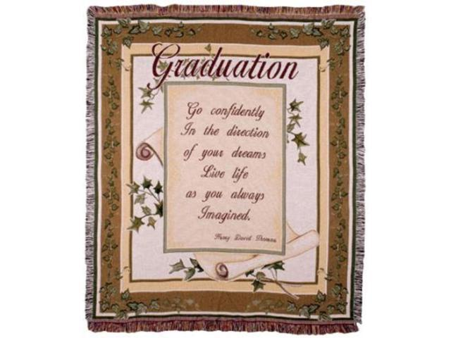 Live Life... Thoreau Graduate Tapestry Throw Blanket 50