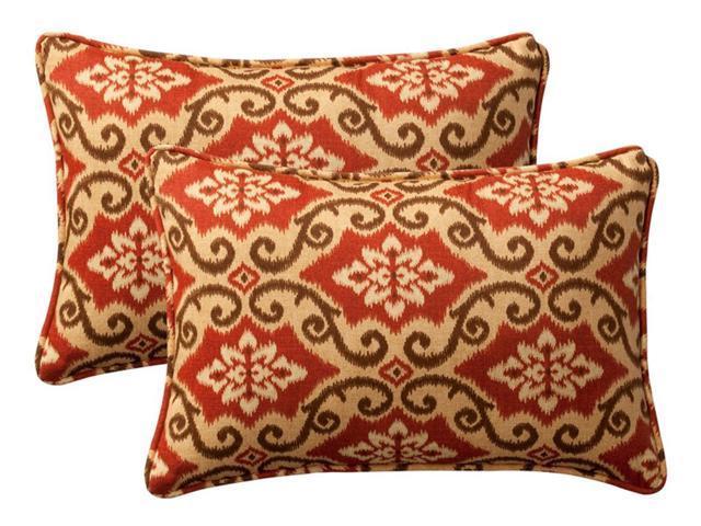 Pack of 2 Outdoor Patio Rectangular Throw Pillows 18.5