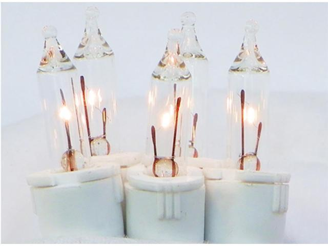 Set of 50 Clear Perm-O-Snap Mini Christmas Lights - White Wire