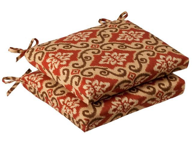 Pack of 2 Outdoor Patio Furniture Chair Seat Cushions - Vintage Tuscan