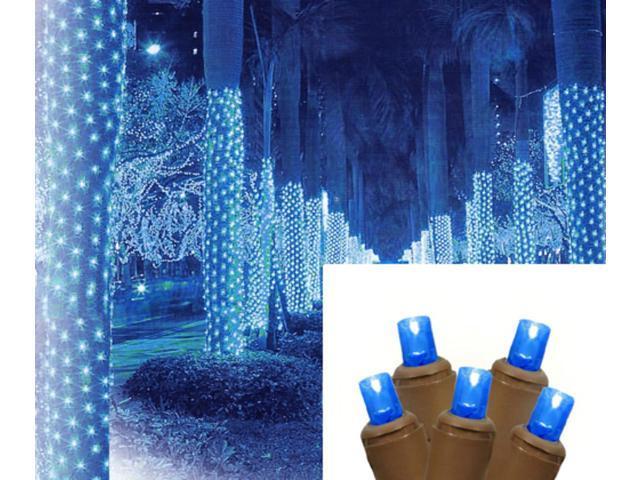 2 39 x 8 39 blue led net style tree trunk wrap christmas. Black Bedroom Furniture Sets. Home Design Ideas