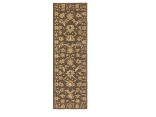 2.5' x 8' Cornelian Tumbleweed Brown and Creme Hand Tufted Wool Area Throw Rug Runner