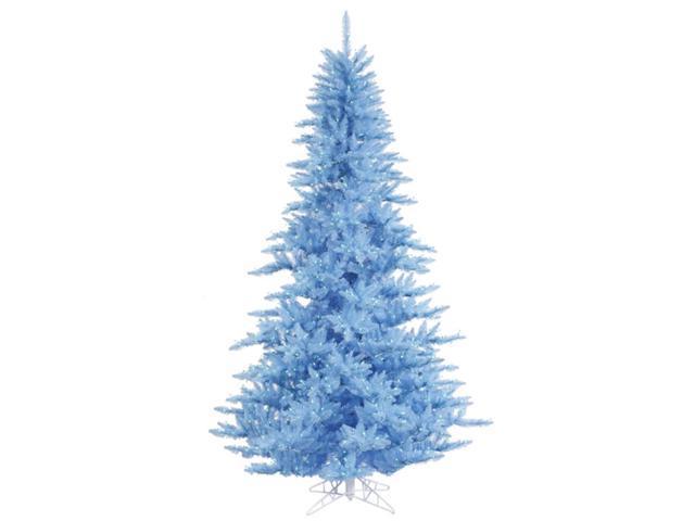 10' Pre-Lit Sky Blue Fir Artificial Christmas Tree - Blue Lights
