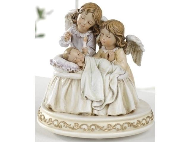 Pack of 2 Joseph's Studio Guardian Angels with Baby Musical Lullaby Figures 6