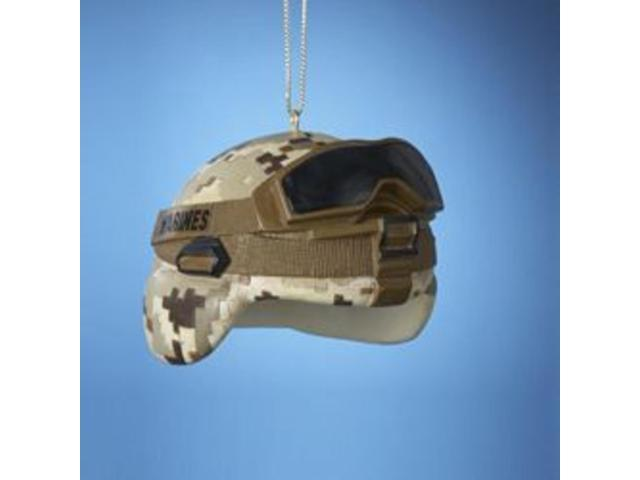 Pack of 12 U.S. Marine Corps Military Combat Helmet Christmas Ornaments 2.75