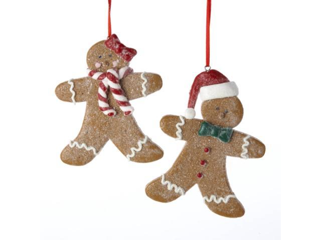 Club Pack of 12 Gingerbread Kisses Boy and Girl Christmas Ornament