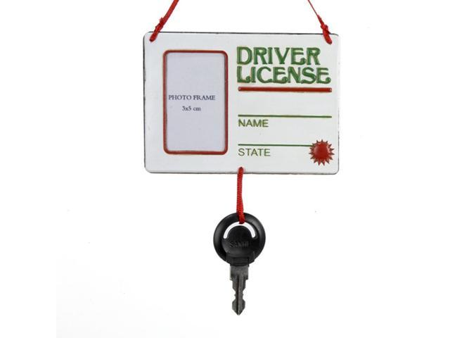 Pack of 12 Driver License with Key Dangle Photo Frame Christmas Ornaments 5