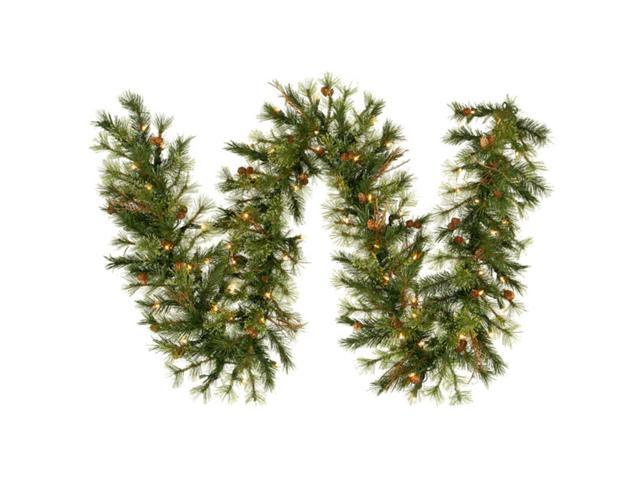 Pack of 2 Pre-Lit Country Artificial Christmas Garlands 9' x 12