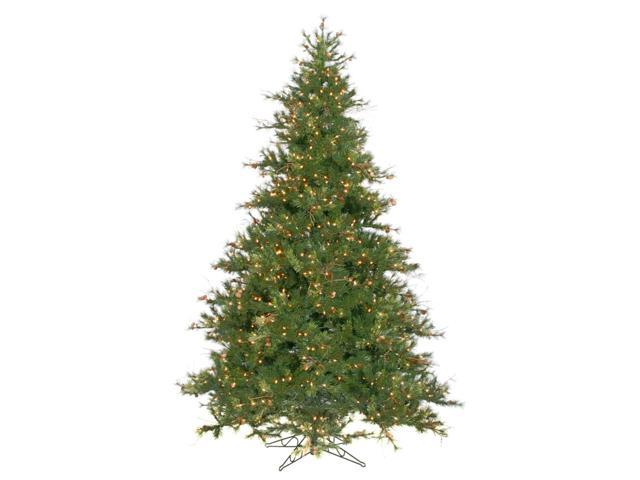 9' Pre-Lit Mixed Country Pine Christmas Tree - Clear Lights