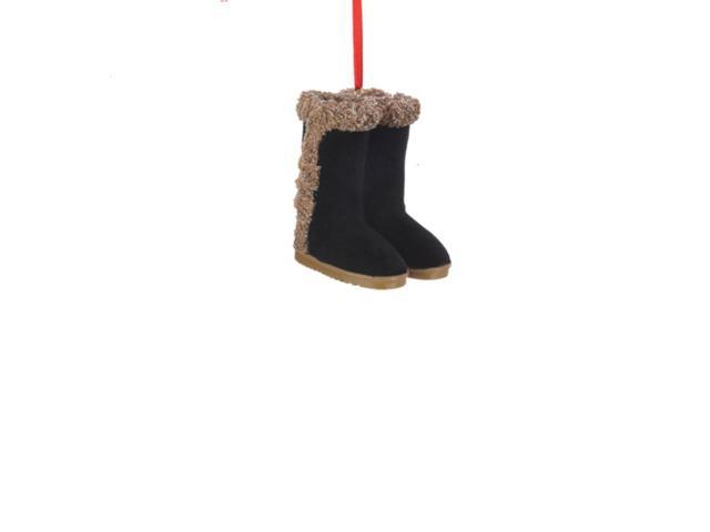 Fashion Avenue Black Ladies Winter Boots Christmas Ornaments 2.5