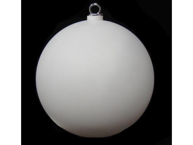 Matte Winter White Commercial Shatterproof Christmas Ball Ornament 12