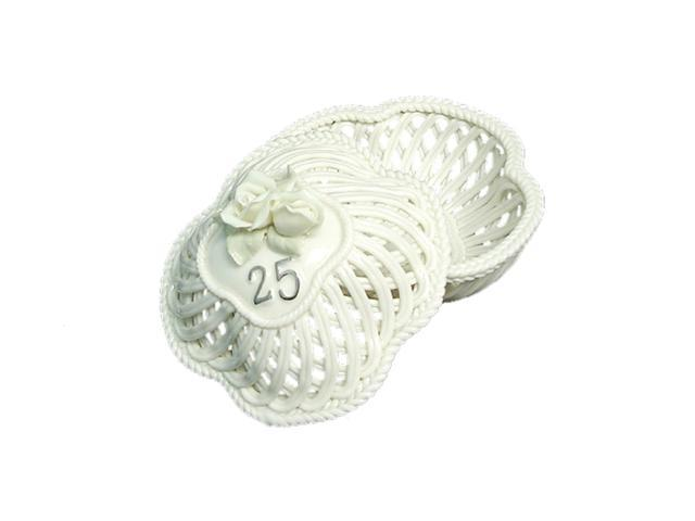 25th Wedding Anniversary To Have & To Hold Porcelain Trinket Basket #40093