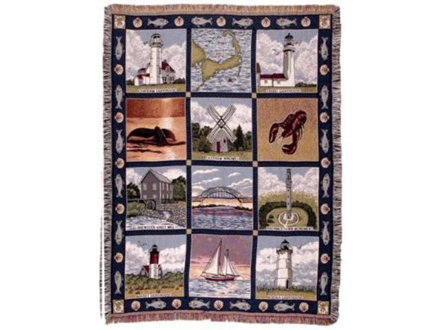 Cape Cod Massachusettes Tapestry Throw Blanket Afghan 50