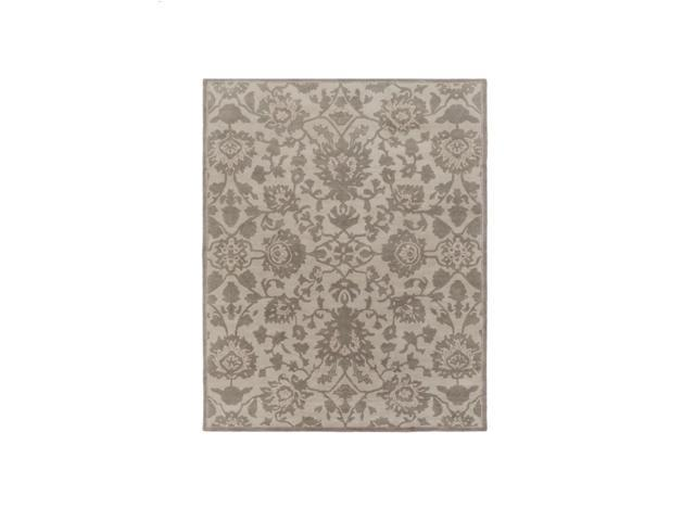 9' x 13' Emanate Pastures Sage Green and Ashen Gray Hand Tufted Wool Area Throw Rug