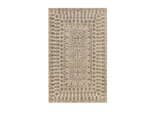9' x 13'  Fields of Joy Mouse Gray and Beige New Zealand Wool Area Throw Rug