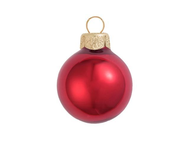 2ct Pearl Red Xmas Glass Ball Christmas Ornaments 6